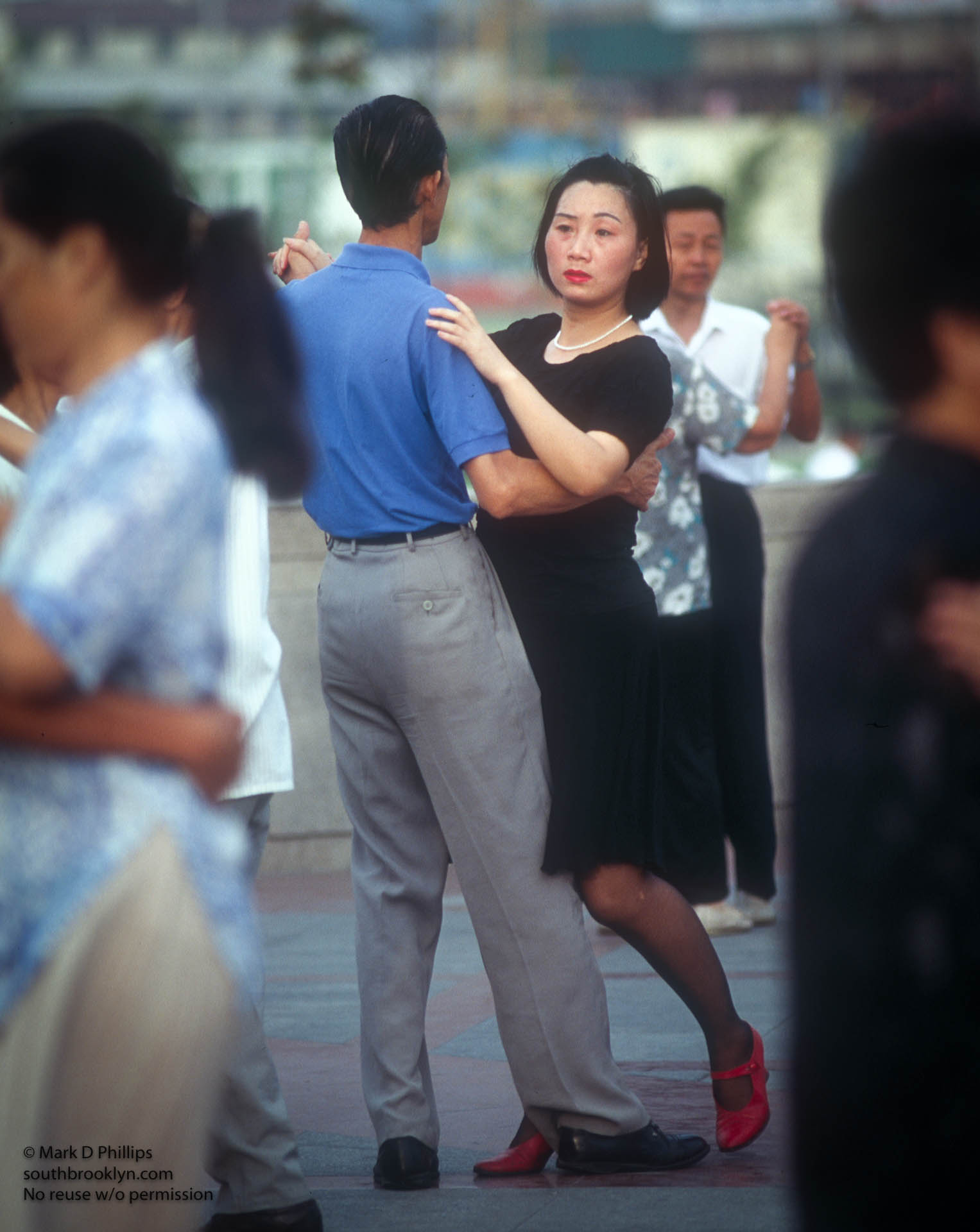 Morning ballroom dancing in a park in Shanghai China in 1996